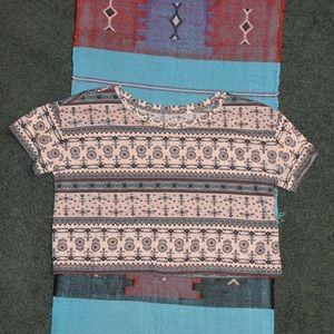 Tribal Pattern Crop Top